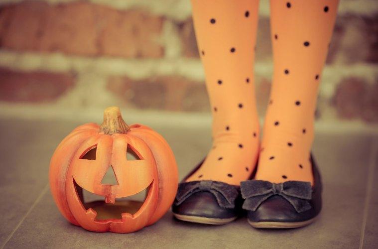 Pumpkin Girl Tights