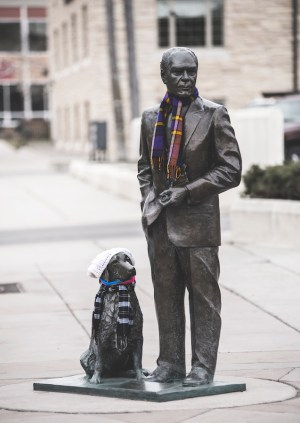 President Ford Statue- Downtown Clothing Drive