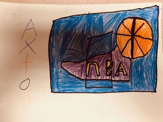 """Playing basketball."" - Axton, age 9"