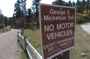 Mickelson trailhead, Deadwood, SD
