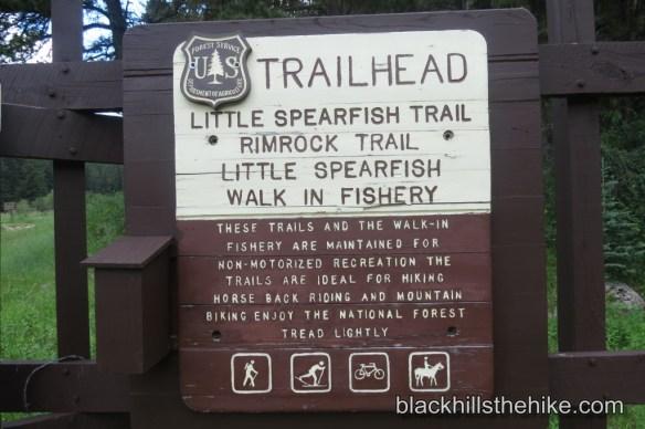 Little Spearfish Trail Trailhead