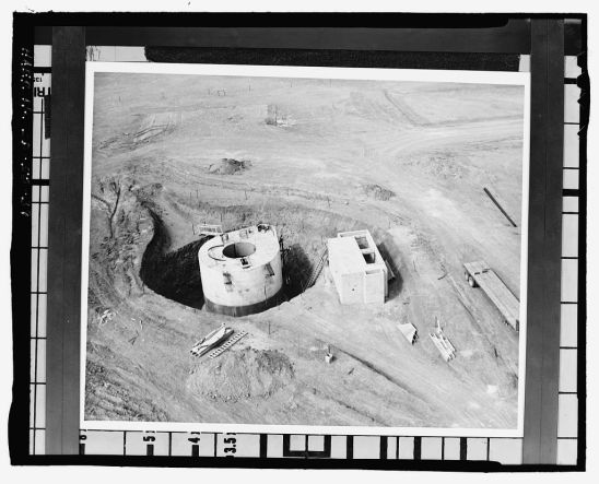 Minuteman Missile National Historic Site: construction of launch facility (missile silo) circa 1961