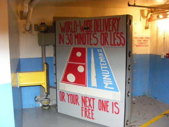 Blast door leading to underground launching facility at Minuteman Missile NHS