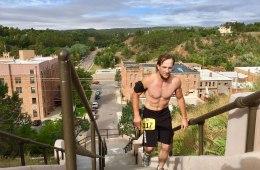 Man running in Hot Springs