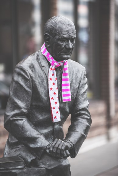President with Scarf