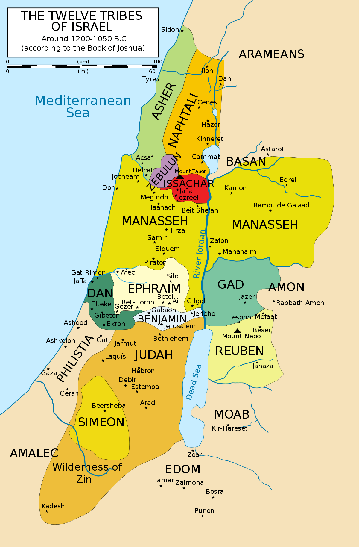 Px 12 Tribes Of Israel Mapg