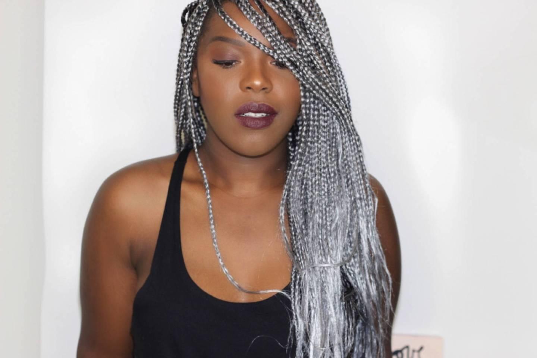 silver box braids