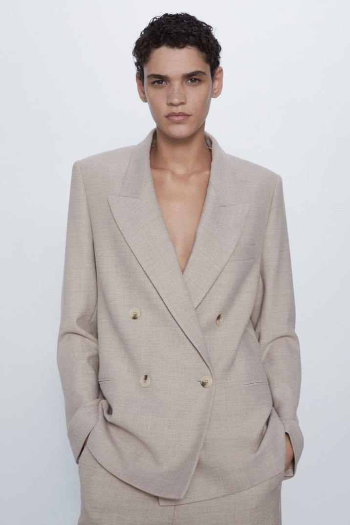 STRAIGHT DOUBLE-BREASTED BLAZER ZARA