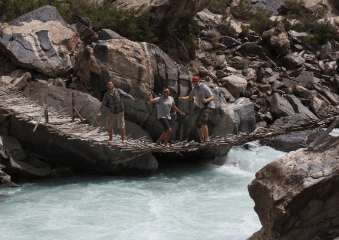 3 People Bridge over Rapids