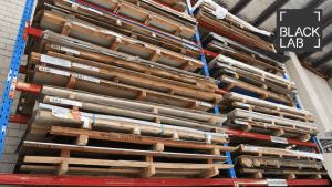 factory storing shelves