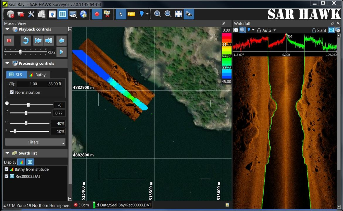 SAR HAWK Sonar and Bathymetry