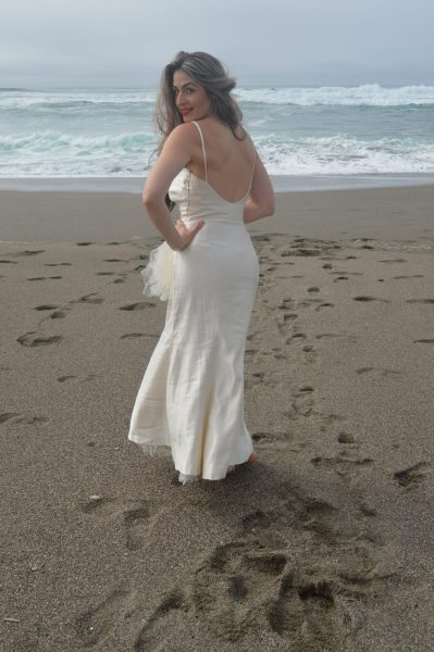 Backless Sheath Wedding Dress