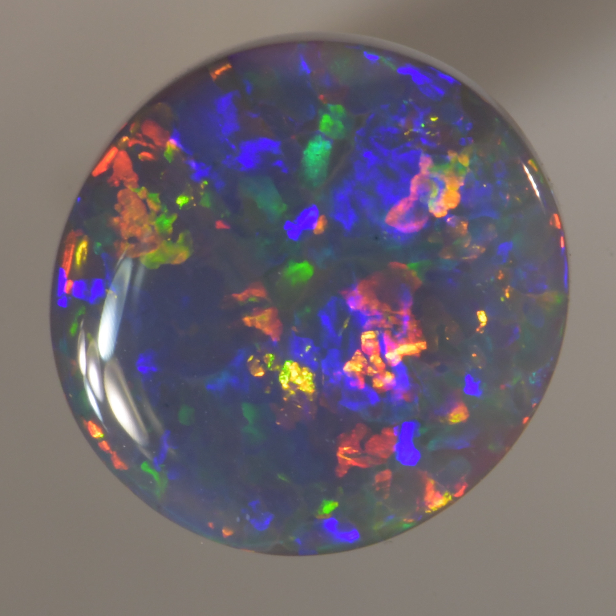 Natural Australian black opal