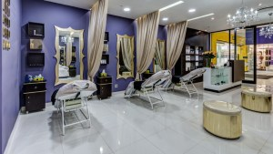 Brow bar salon interior design by Blackline retail interiors