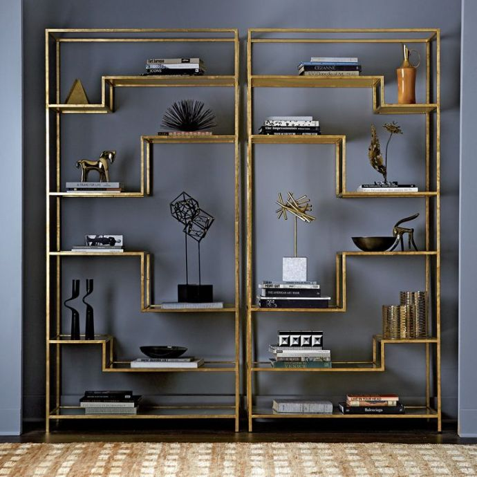 grey and gold interior design trend