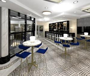 Just Cuban restaurant interior design render