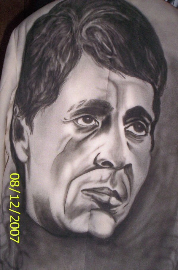 Scarface Airbrush On Motorcycles