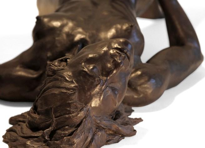 """Bronze """"Myself alone"""" by Leslie Stefanson"""