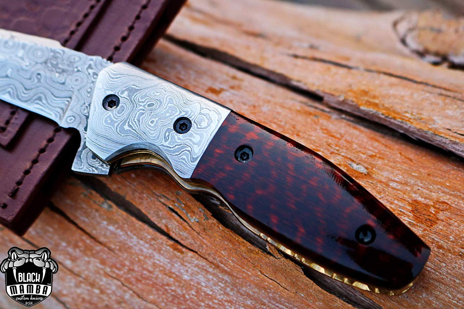 BMK-414 Indian red scorpion 4 inches Blade Damascus TANTO ... - photo#49