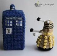 Dalek y TARDIS amigurumi
