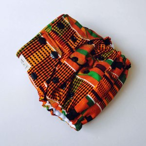 One Size Kente Cloth Diaper Cover