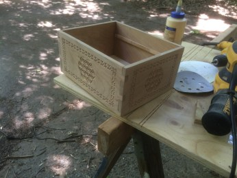 Here you can see a late stage dry fit showing the joinery and the bottom in place.