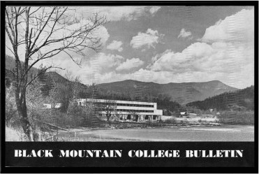 #1 Vol. I, No. 3. - 02.1943 Black Mountain College Bulletin / photographic bulletin that explains the educational goals and structure of Black Mountain College, illustrated with pictures of students and faculty. Released by Emily R. Wood. Courtesy The North Carolina State Archives