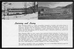 #3 Vol. I, No. 3. - 02.1943 Black Mountain College Bulletin / photographic bulletin that explains the educational goals and structure of Black Mountain College, illustrated with pictures of students and faculty. Released by Emily R. Wood. Courtesy The North Carolina State Archives