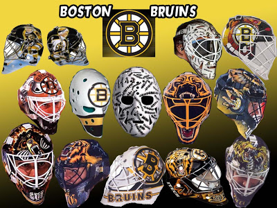 Image result for bruins goalie masks