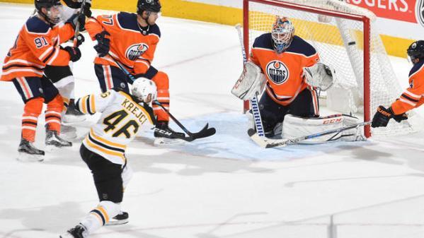 Boston Bruins v Edmonton Oilers