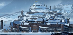 The levels in The Banner Saga are gorgeous, though they betray a hint of the desolation present in the story