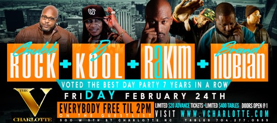 RAKIM, CHUBB ROCK, DJ KOOL & BRAND NUBIAN FRI DAY PARTY @ VANITY PT.8 VOTED BEST DAY PARTY 7 TIMES www.eventbrite.com