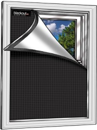 Blackout EZ Window Cover l Small 36 x 48 l Black/White l ...