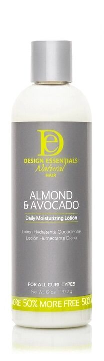 Almond and Avocado Daily Moisturizing Lotion black-owned business design essentials
