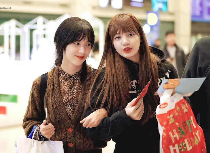 Blackpink Jisoo Lisa Incheon Airport photos