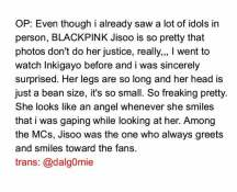 Blackpink Jisoo fan Meet in Person