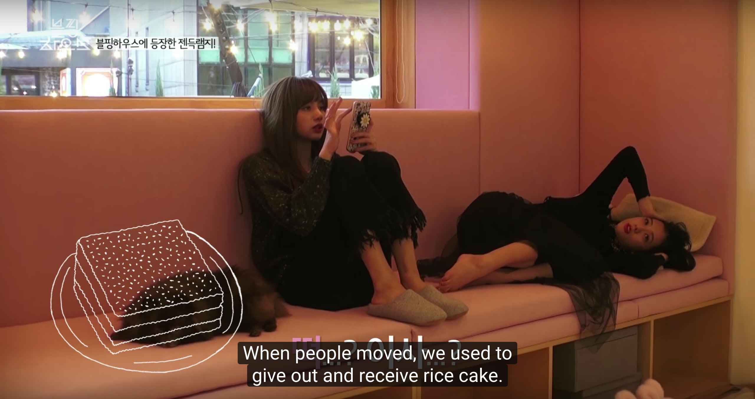 Blackpink-Discussing-rice-cake