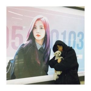 Blackpink Jisoo Visiting her Birthday Message Board 8