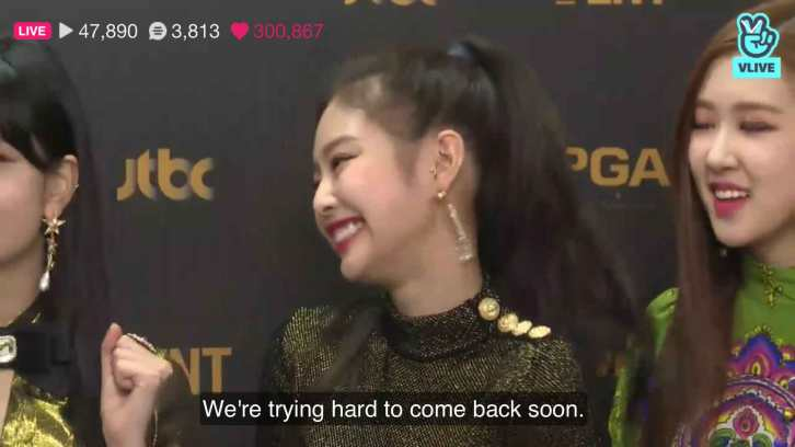 Blackpink talking about comeback GDA 2018