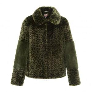 SHRIMP Leopard fur coat