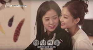 Jennie-Jisoo-backhug-Blackpink-House