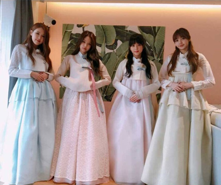 Blackpink Hanbok Korean Lunar New year 2018