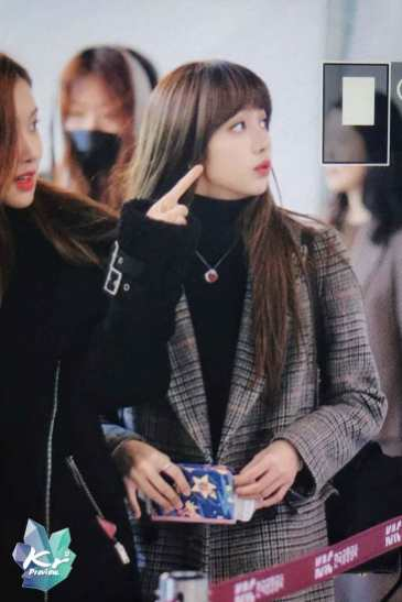 Blackpink Lisa Rose Winter Airport Style Jeju Island 2018