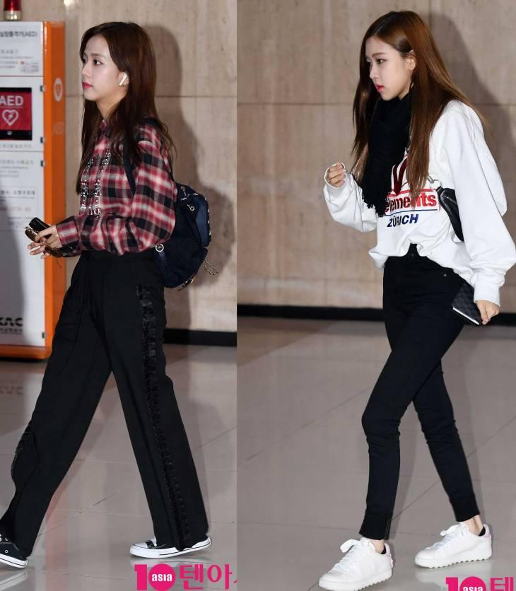 Blackpink Jisoo Rose airport fashion March 12, 2018
