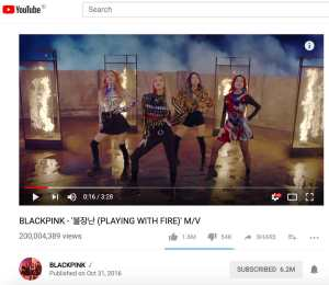 Blackpink-Playing-with-fire-200m-youtube-views