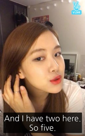 Blackpink Rose ear piercings