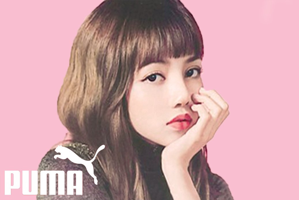 Blackpink Lisa PUMA Suede Bow 2018