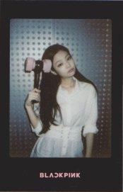 Blackpink Jennie Light Stick Photo Cards black version