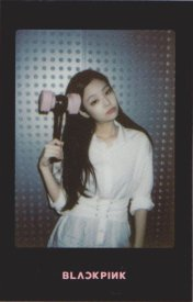 Blackpink Jennie Light Stick Photo Cards black version