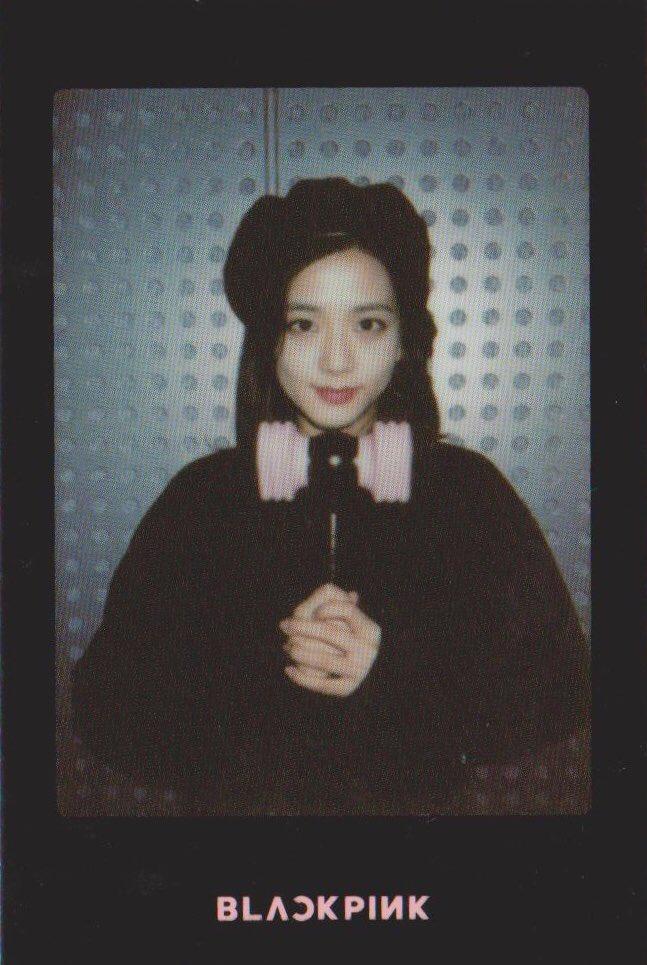 Blackpink Jisoo Light Stick Photo Cards black version